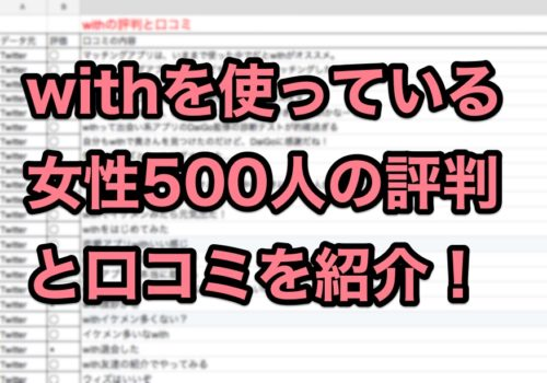 with評判口コミを500人分集計