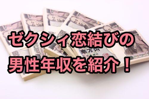 ゼクシィ恋結びアプリ評判男性年収