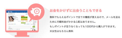 YYC評判口コミ料金_無料で出会える