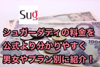 シュガーダディ(SugarDaddy)の料金を公式より分かりやすく男女別に解説!