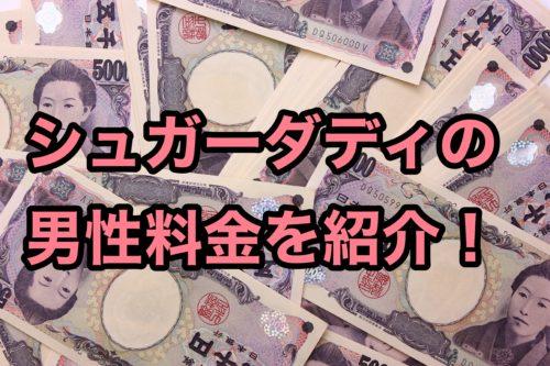 シュガーダディ料金_男性料金を紹介
