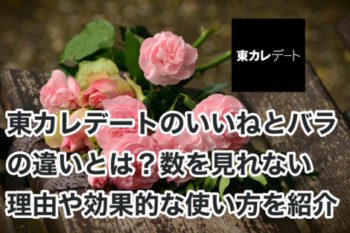 東カレデートのいいねとバラの違いは?数を見れない理由や効果的な使い方も紹介!